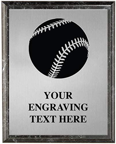 Crown Awards Baseball Plaques Custom Engraved Etched Baseball Trophy Plaque Award Great Customizable Baseball Team Gift