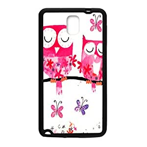 Pink lovely owls Cell Phone Case for Samsung Galaxy Note3
