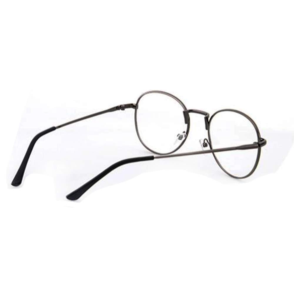 DiiZii Lunette de Vue Femme Homme Unisex Vintage Retro Monture Metalique  Mode Fashion Eyeglasses Lunettes Verre c5f38a0dd722