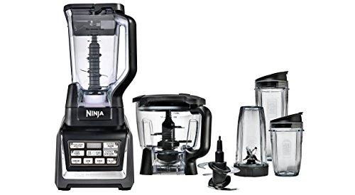 Nutri Ninja Blender/Food Processor with Auto-iQ 1200-Watt Base, 72oz Pitcher, 64oz Processor Bowl, 18, 24, and 32oz Cups, and Prep Blades (BL682) (Renewed)