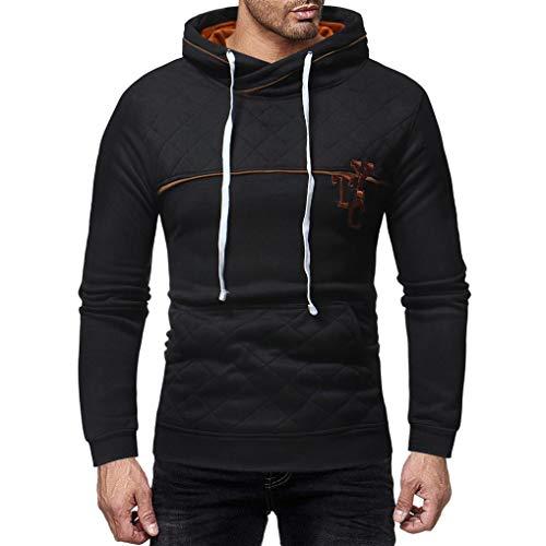 Clearance Sale! 2018 Wintialy Mens' Long Sleeve Plaid Pocket Hoodie Hooded Pullover Sweatshirt Outwear (K-12 Gear Jumper)