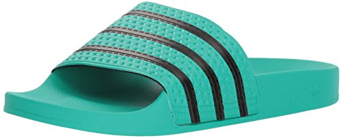 - adidas Originals Men's Adilette Sneaker, core Black, hi-res Green s, 11 M US