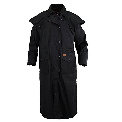 Outback Trading Co Men's Co. Stockman Oilskin Duster Black Small