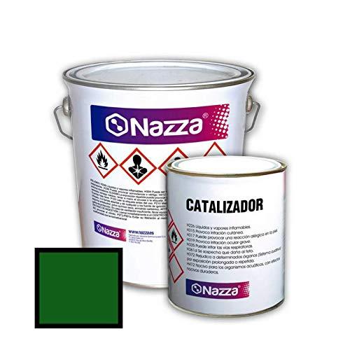 Revestimiento Epoxi Bicomponente Con Disolvente para Suelos   Acabado Brillante   Color Verde   Para el tratamiento de hormigó n   Pintado de suelos de garajes, factorí as y almacenes   4 Kg + 1 Kg factorías y almacenes   4 Kg + 1 Kg Nazza
