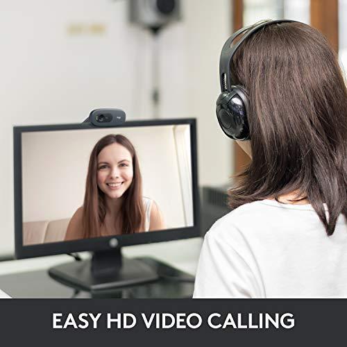 Logitech C270 HD Webcam with Widescreen Video Calling