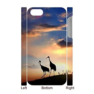 3D Bumper Plastic Case Of Red crowned Crane customized case For Iphone 4/4s