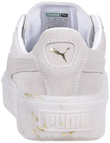 White PUMA WN'S 8 Platform Women's M Puma Celebrate Puma Sneaker Team US Gold Suede rqUq0gAw6