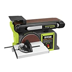 This RYOBI 4 in. x 36 in. Belt/Disc Sander is a combination belt and disc sander that delivers 120-volts of power to help provide efficient operation. The cast-iron base helps keep the sander stable during use so you can apply the desired amo...