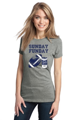 SUNDAY FUNDAY Ladies' T-shirt / Fantasy Football NFL Beer and Sports Fan Tee