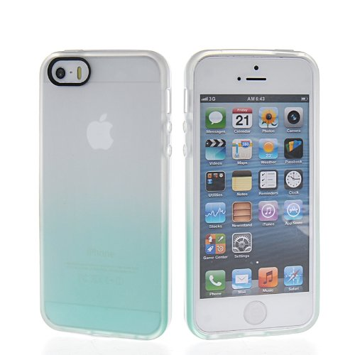 CASEPRADISE Gradient Soft Flexible Gel Tpu Silicone Etui Back Case Cover For iPhone 5 / 5S