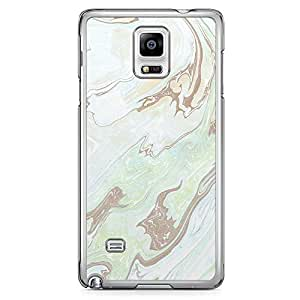 Samsung Note 4 Transparent Edge Phone Case Liquid marble Phone Case Liquid Green Geode 2D Note 4 Cover with Transparent Frame