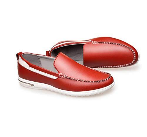 Red Set da Scarpe Scarpe Resistente Aiuto Gomma Nuove in Basso in Cava Uomo Traspiranti LQV Antiscivolo Casual all'Usura Scarpe Suola Scarpe di Pelle qvCBZwF