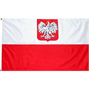 """Poland """"State/Ensign Eagle"""" Flag: 3x5 foot Poly"""