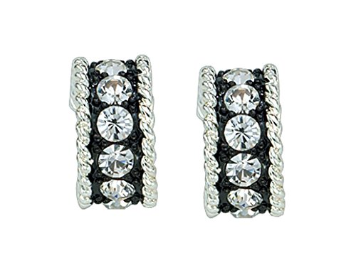 - Montana Silversmiths Womens Crystal Shine Small Hoop Earrings Silver