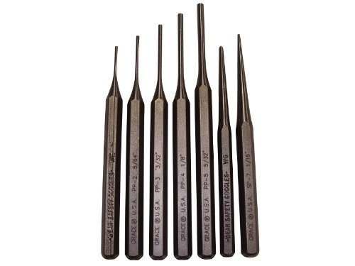 (Grace USA - Gun Care Steel Punch Set - PS7 - Gunsmithing - Steel Punches - 7 piece - Gunsmith Tools &)