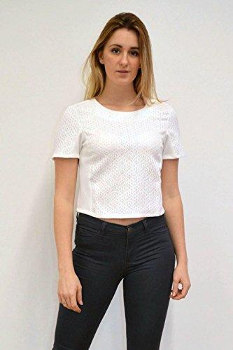 Chemisier Ex Topshop Blanc Femme Topshop Ex qaxwtZPOg