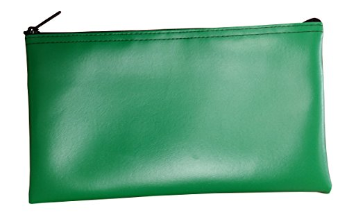 Vinyl Zipper Bags (Leatherette) Small, Compact Zippered Pouches | Portable Travel Utility | Check Wallet, Toiletries, Makeup, Cosmetics, Tools | Men, Women | Kelly Green (Vinyl Zipper)