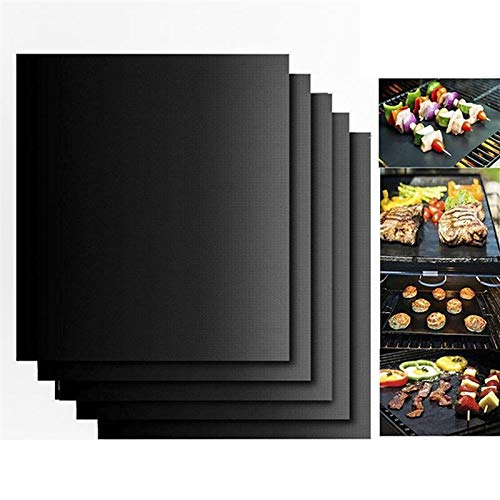 1 lot ROSENICE 5pcs BBQ Oven Grill Mat Heat Resistant Non-Stick BBQ Grill Sheet Oven Pan Liners Baking Pad Mat