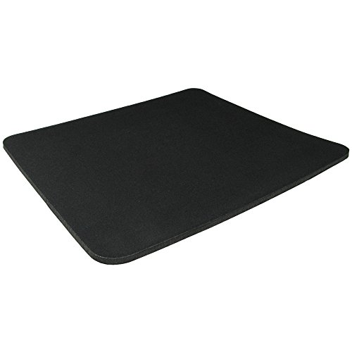 Fabric Mouse Mat Pad 5mm Thick Non Slip Foam for Gaming,Office and Home,13.8x11.6x0.19 inches - Black
