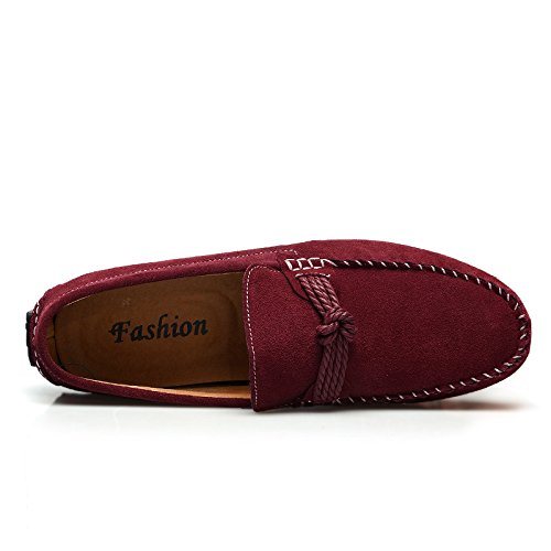 on Salabobo Red Mens Slip 7597 New Driving QYY Smart Leather Casual Shoes Loafers wr8wpZq7