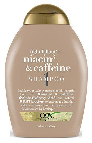 Ogx Shampoo Niacin 3 & Caffeine 13 Ounce (384ml) (6 (Best Ogx Dht Blockers)