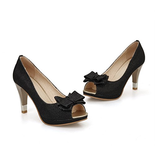 1TO9 Womens Peep-Toe Composite Pull-On Polyurethane Sandals Black FuinPgfS