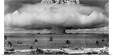 John Parrot Poster Print entitled A nuclear weapon test by the American military at Bikini Atoll, (Exploding Smoke Bombs)