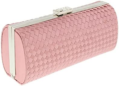 Scheilan Rose Fabric Weave Box Clutch//Shoulder Bag