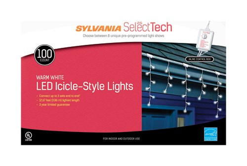 Sylvania 100 Led Icicle Lights in US - 4
