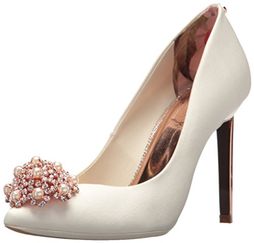 Ted Baker Women's Peetch 2 Pump, Ivory Satin, 6.5 B(M) US by Ted Baker