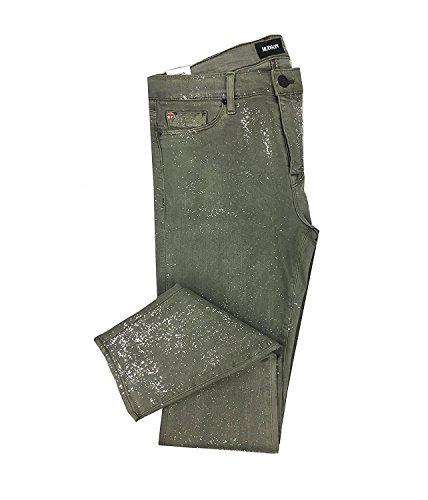 Hudson Women's Nico Midrise Ankle Super Skinny Glitter Jeans (27, Trooper Green) by Hudson Jeans