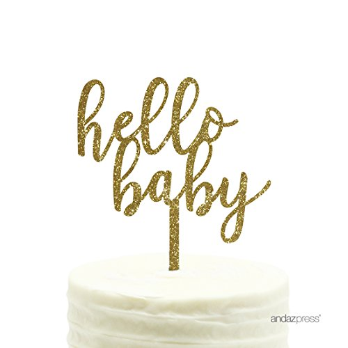 Wedding Engagement Anniversary Baby Shower Birthday Party Decorations Purple LXZS-BH Baby boy Baby Girl Happy Birthday Cake Topper Pack of 6 Five-Pointed Star and 1 GlitterOh Baby Cake Toppers
