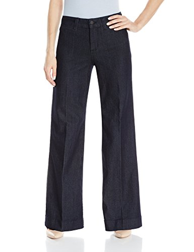 (NYDJ Teresa Trouser Jeans in Premium Denim, Dark Enzyme, 14)