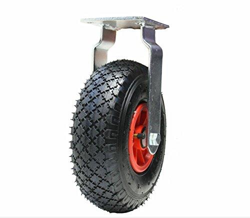 gonfl/ées Roulettes pneumatiques /à 4-10 pouces 260 mm 2 pivotantes et 2 fix/ées 300x4