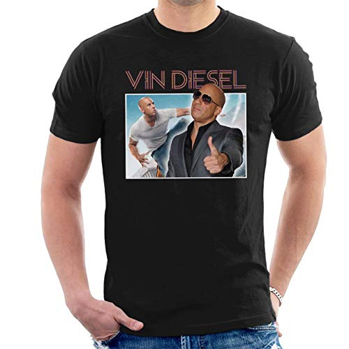 STONSTAIN Vin Diesel Action Montage Men's T-Shirt ()