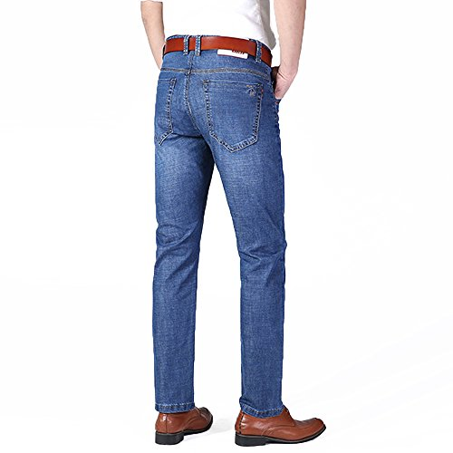 XYJD Men's Straight Barrel Jean for Business and Leisure in Summer by XYJD (Image #2)