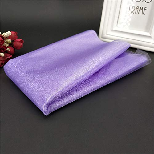 Miao Express 1Pcs 48CMX5M Tulle Roll Wedding Table Decoration Roll Fabric Spool Tutu Birthday Gift Wrap 5Z-SH015,Light Purple ()