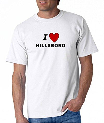 I LOVE HILLSBORO - City-series - White T-shirt - size XXL