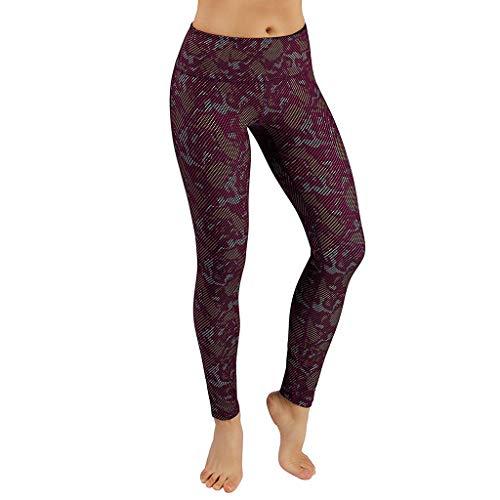 Women's High Waist Digital Print Yoga Pants,YuhooSUN Tummy Control Workout Running 4 Way Stretch Yoga Leggings Sports Camouflage