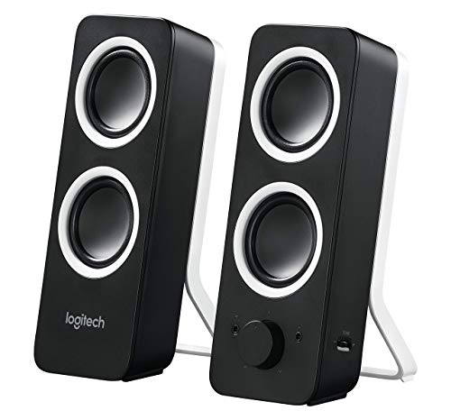 Logitech Multimedia Speakers Z200 with Stereo Sound for Multiple Devices - Black (Renewed) (Z200 With Stereo Sound For Multiple Devices)