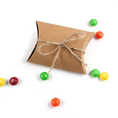 AerWo Cute Anti-Scratch Kraft Paper Pillow Gift Candy Box We