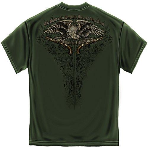 Flag Tattoo American Eagle - 2nd Amendment 2nd Amendment Shirts for Men   2nd Amendment Eagle Tattoo Shirt ADD204-RN2256M
