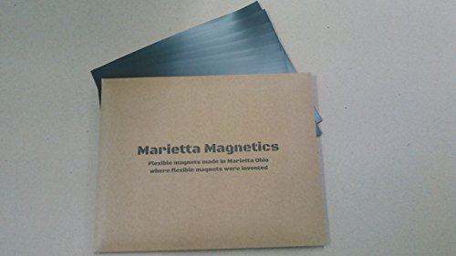 Marietta Magnetics - 10 Magnetic Sheets of 8.5 x 11 Adhesive (30 mil) Create your own Magnet! Flexible Peel & Stick Self Adhesive for Photos Crafts Stamp Dies Signs & More