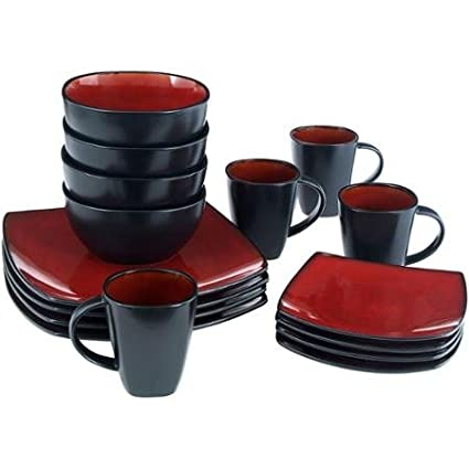 Better Homes And Gardens 16 Piece Dinnerware Set, Tuscan Red