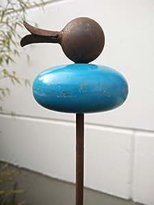 Jardín Inspiration Flores Conector pájaro diseño en azul