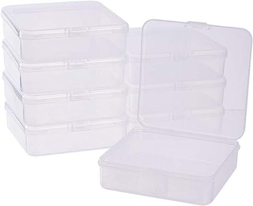 BENECREAT 8 Pack Caja de Almacenamiento de Plástico Transparente ...
