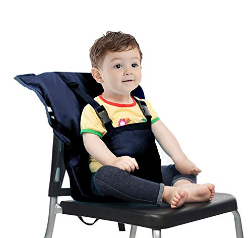 (Easy Seat Portable Travel High Chair Safety Washable Cloth Harness for Infant Toddler Feeding with Adjustable Straps Shoulder Belt)
