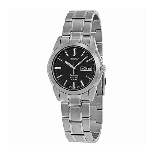 Mens Sapphire Quartz (Seiko Men's SGG731 Titanium Silver Dial Watch)