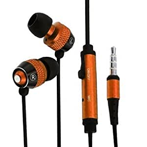 Viesrod - Importer520 3.5mm In-Ear Stereo Headset w/ On-off & Mic for Huawei M835 (Metro PCS) - Copper+Black