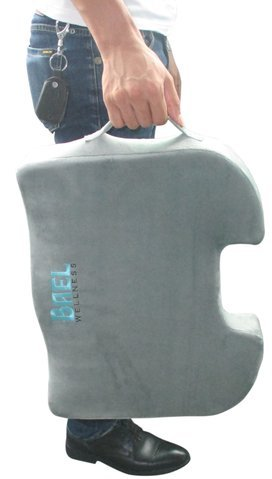 Bael Wellness seat cushion for sciatica, coccyx, tailbone, back pain & lumbar support gel enhanced cushion combo pack by Bael Wellness (Image #2)